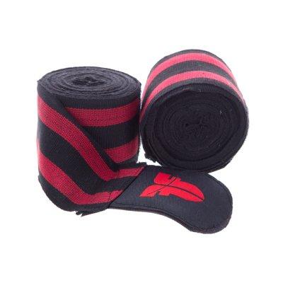 Боксерские бинты Fighter Черно-красные