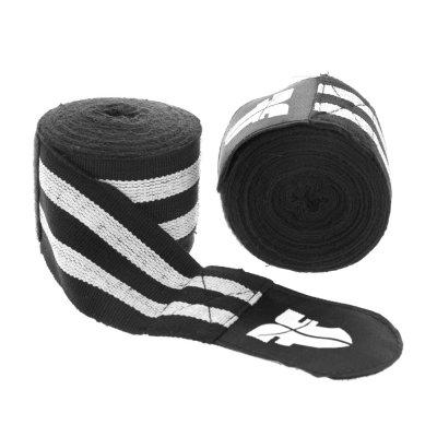 Боксерские бинты Fighter Черно-белые