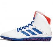 Борцовки Adidas Mat Wizard 4. Бело-синие