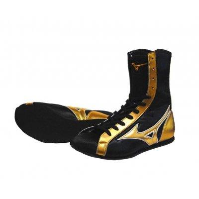 Боксерки Mizuno Черно-золотые Средние