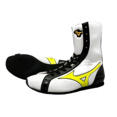 Боксерки Mizuno Бело-черно-желтые Средние