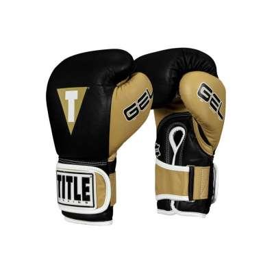 Снарядные перчатки Title Gel V2T Черно-золотые