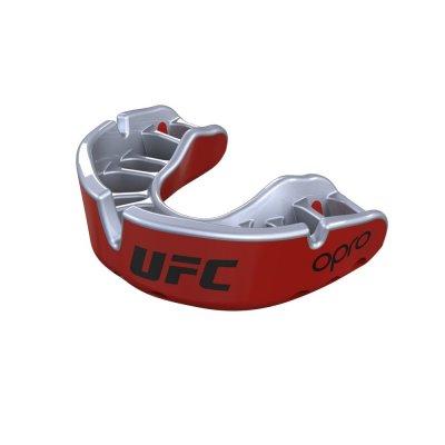 Капа OPRO UFC - Gold level - Красно-серебряная