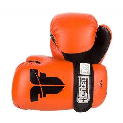 Перчатки для кикбоксинга Fighter Оранжевые