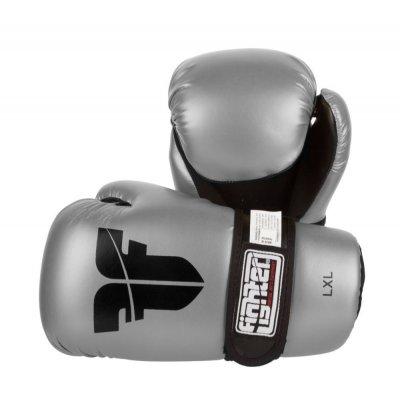 Перчатки для кикбоксинга Fighter Серебряные