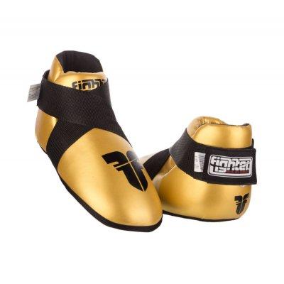 Футы для кикбоксинга Fighter Золотые