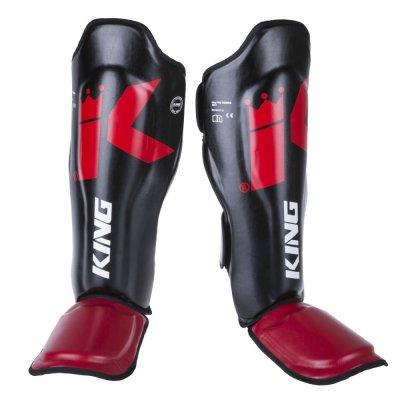 Защита голени и стопы King Pro Boxing Красно-черные