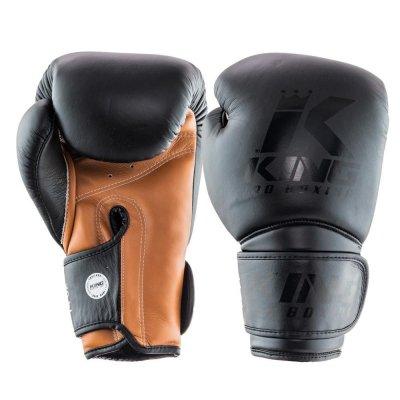 Перчатки King Pro Boxing Черно-коричневые