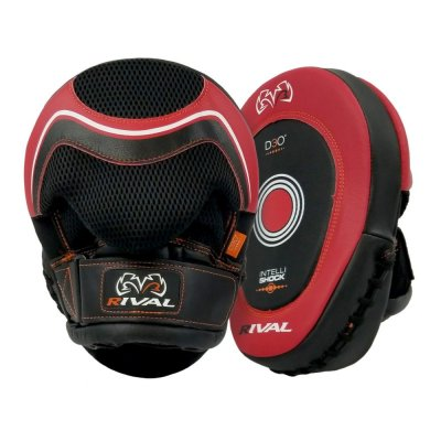 Боксерские лапы Rival Intelli Shock RPM10 - Красные