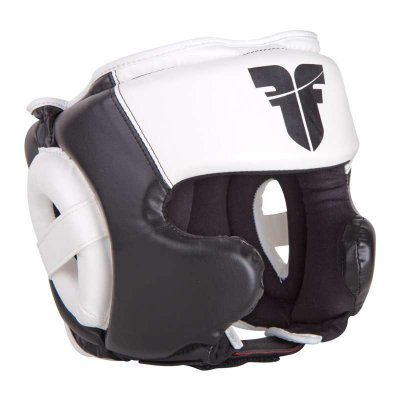 Шлем Fighter Черно-белый